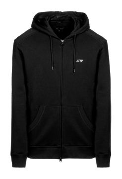 Zipped Sweatshirt - Black