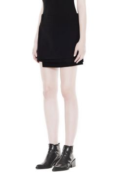 Palm Suiting Skirt - Black