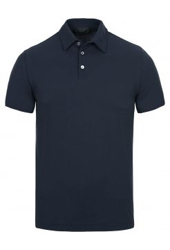 Ice Cotton Polo Shirt - Navy