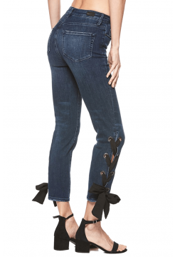 High Rise Sarah Straight Jeans - Bayler Denim