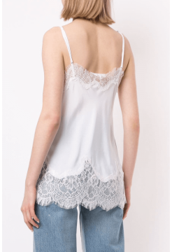 Coco Silk Camisole - Bright White