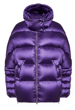Down Filled Oversized Metalic Jacket - Purple