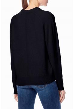 V Neck Cashmere Sweater - Black