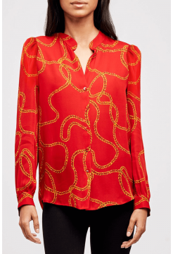 L AGENCE SILK BLOUSE