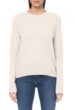 Leila Basic Crew Sweater - Chalk