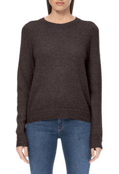 Leila Basic Crew Sweater - Espresso