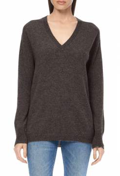 Posie V Neck Sweater - Espresso