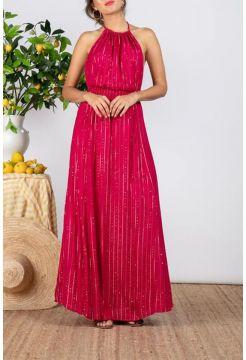 Lauriana Roma Tied Dress - Fuchsia Pink