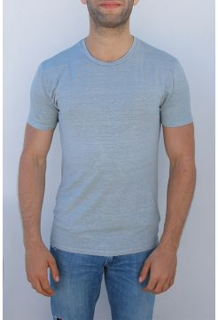 Short Sleeve Linen T-Shirt - Grey
