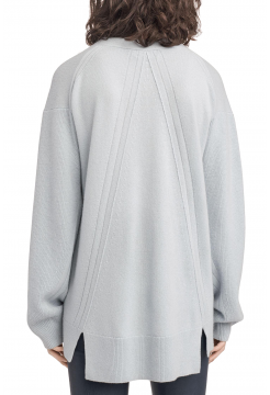 Ace Cashmere V-Neck Sweater - Grey