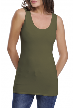 Tulip Long Tank Top - Khaki