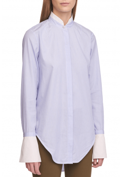Allie Cotton Shirt - Light Blue