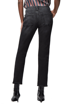 Le Sylvie Cropped Straight Jeans - Vintage Black