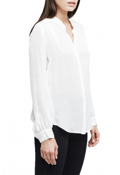Classic Bianca Bounded Silk Blouse - Ivory