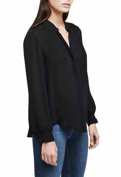 Bianca Classic Silk Blouse - Black