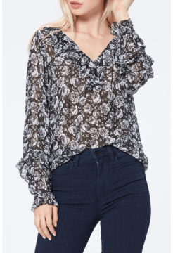 Robin Silk Blouse - Black Gardenia
