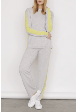 Abbie Soft Cashmere Hoody - Cloud Grey