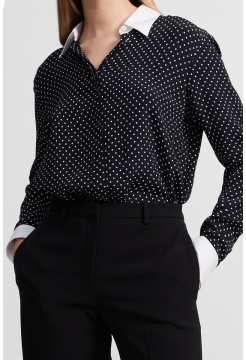 THEORY SILK SPOT SHIRT
