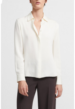 THEORY SILK FITTED SHIRT