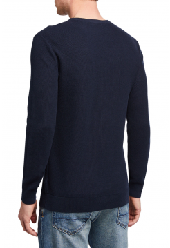 Men's Riland Breach Waffle Crew Neck Sweater - Space Navy