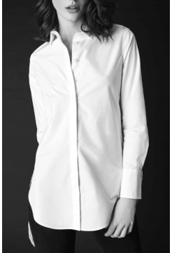 Stretch Silk Shirt - White