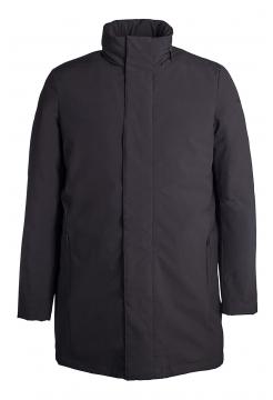 Long Down Rain Coat - Black