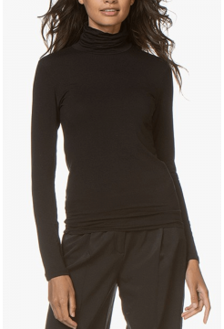 Chloe Turtleneck T-Shirt - Black