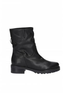Low Cut Chain Boot - Black