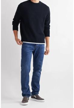 Haldon Cashmere Crew Neck Sweater - Blue