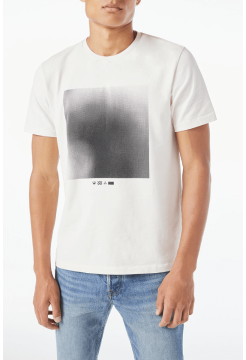 Short Sleeve Graphic Heat Map T-Shirt - White