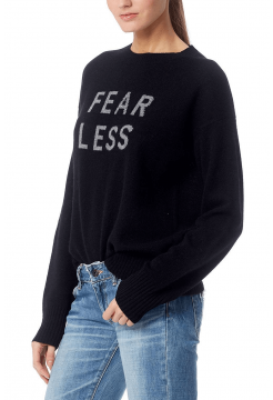Fear Less Cashmere Sweater - Black