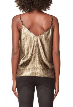 Velvet Camisole Vest Top - Gold