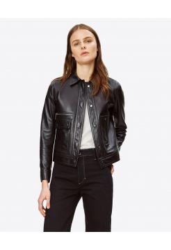 Leather Moto Jacket - Black