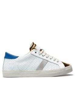 Hill Low Top Trainers - Pong White & Gold