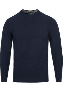 Ice Cotton Knitted Sweater - Navy
