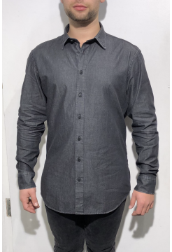 Chambray Shirt - Denim Black