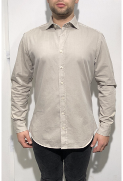 Heavy Stone Washed Cotton Shirt - Stone