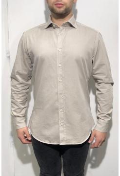 Heavy Stone Washed Cotton Shirt - Stone