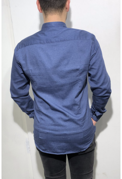 Brushed Cotton Shirt - Light Navy