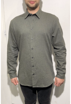 Brushed Cotton Shirt - Khaki