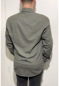Brushed Cotton Shirt - Khaki