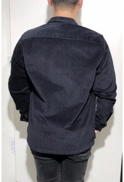 Jumbo Two Pocket Cord Over Shirt - Navy