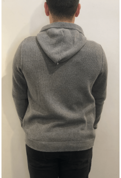 Self Ridge Stretch Merino Zip Hoody - Heather Grey