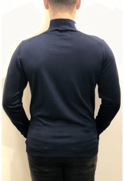 Turtle Neck Merino Sweater - Navy