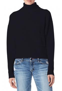 Isilda High Neck Cashmere Sweater - Black