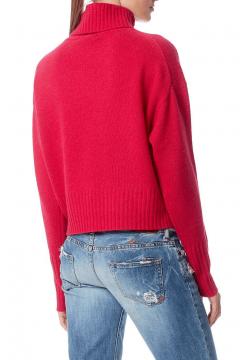 Isilda High Neck Cashmere Sweater - Magenta