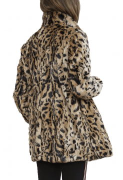 Juliana Leopard Print Faux Fur Jacket - Leopard