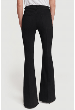 Le Pixie High Flare Jeans - Film Noir Black