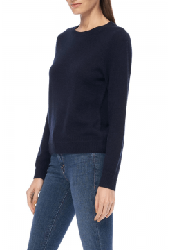 Leila Basic Crew Sweater - Navy