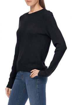 Lelia Basic Cashmere Crew Sweater - Black
